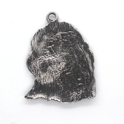 Pendants, Majestic Eagle Head, Silver, Alloy, 40mm x 31mm X 2mm, Sold Per pkg of 2