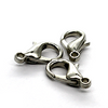 Clasp, Lobster Clasps, Alloy (Nickel Free), Silver, 14mm x 7mm x 4mm, Sold Per pkg of 8