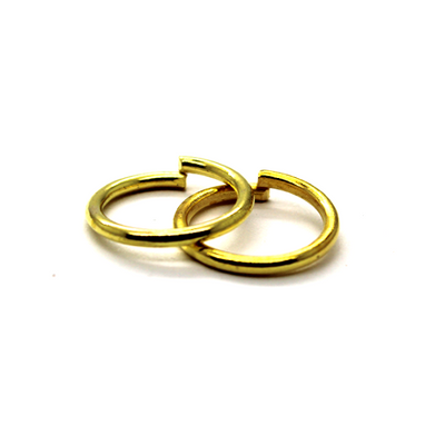 Jump Rings, Gold, Alloy, Round, 14mm, 15 Gauge