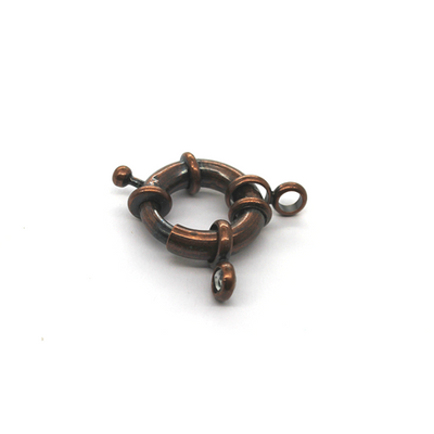 Clasp, Spring Clasp , Copper, Alloy, 33mm x 22mm, Sold Per pkg of 1
