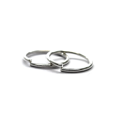 Jump Rings, Silver, Alloy, Round, 14mm, 16 Gauge, 33+ pcs