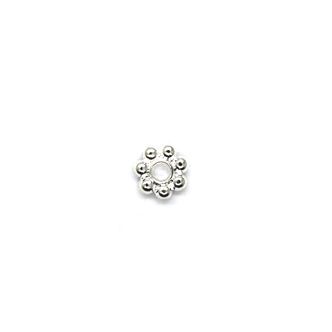Spacers, Daisy Spacer, Silver, Alloy, 5.5mm X 5.5mm,  Sold Per pkg of 85+