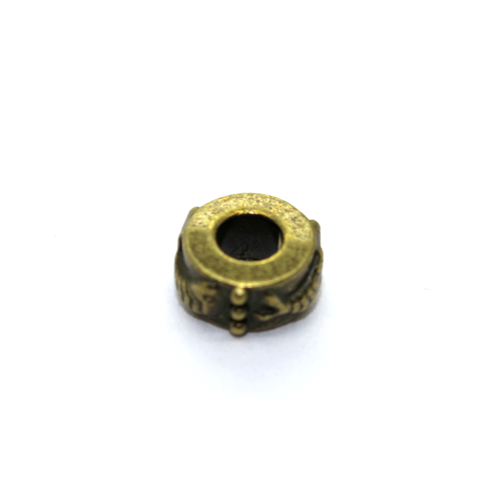 Spacers, Gear Disk Spacer, Alloy, Brass, 9mm X 9mm X 5mm, Sold Per pkg of 6