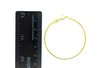 Earrings, Gold, Alloy, Earring Hoops, 53mm x 49mm, sold per pkg of 4