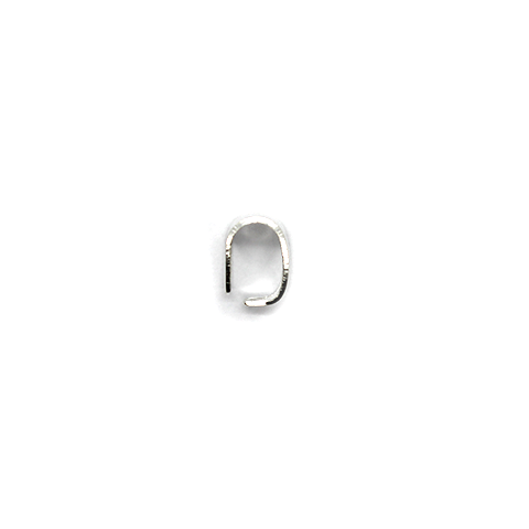 Bails, Oval Bail Loop, Silver, Alloy, 8mm x 6mm, Sold Per pkg of 20