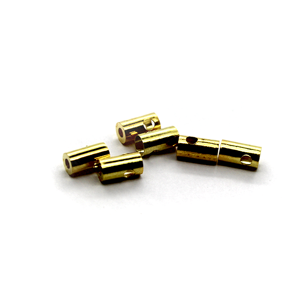 Terminators, Bead Tips, Gold, Alloy, 6mm x 4mm, Sold Per pkg of 12