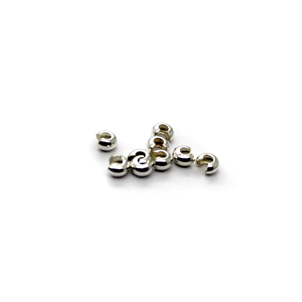 Crimps, Cover, Silver, Alloy, 5mm X 4mm X 3mm, Sold Per pkg of 17
