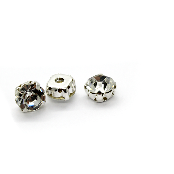 Chaton Montees, SS-14, Alloy. Silver, 4mm x 4mm x 4mm loop, Sold per pkg of 35
