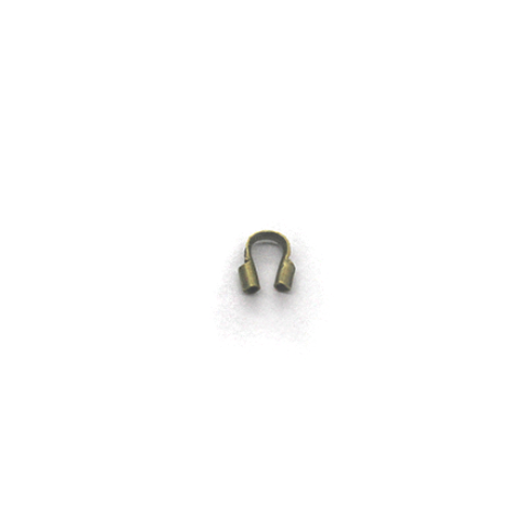 Terminators, Wire Guards, Medium, Alloy, Brass/Silver,  4mm X 3mm, Sold Per pkg of 30