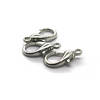 Clasp, Lobster Clasp, Silver, Alloy , 18mm x 9mm, Sold Per pkg of 10