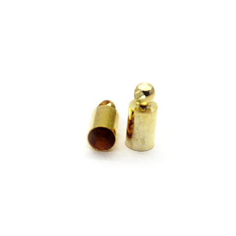 Terminator, Cord Ends, Gold, Alloy, 8mm x 4mm x 4mm, Sold Per pkg of 14