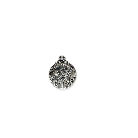 Charm, Sister Charm, Silver, Alloy, 18mm X 15mm X 1mm, Sold Per pkg of 3