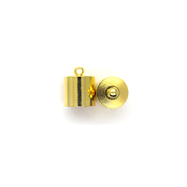 Terminator, Cord Ends, Gold, Alloy, 14mm x 11mm x 11mm, Sold Per pkg of 4