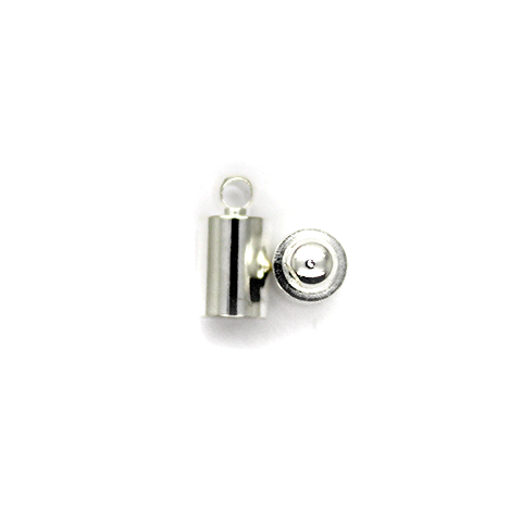 Terminator, Cord Ends, Silver, Alloy, 10mm x 5mm, Sold Per pkg of 12