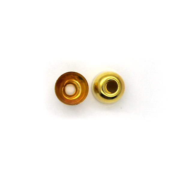 Terminator, Cord Ends, Gold, Alloy, 6mm x 8mm, Sold Per pkg of 20