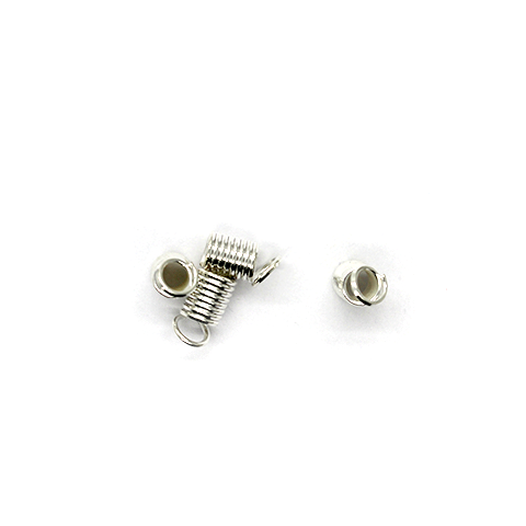 Terminators, Coil Ends, Brass, Alloy, 9mm x 4mm x 4mm, Sold Per pkg of 30