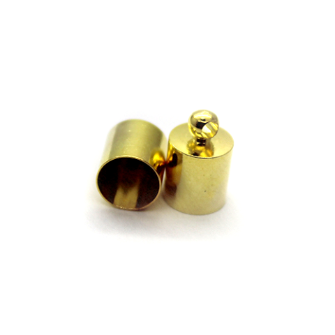 Terminator, Cord Ends, Gold, Alloy, 11mm x 7mm x 7mm, Sold Per pkg of 8