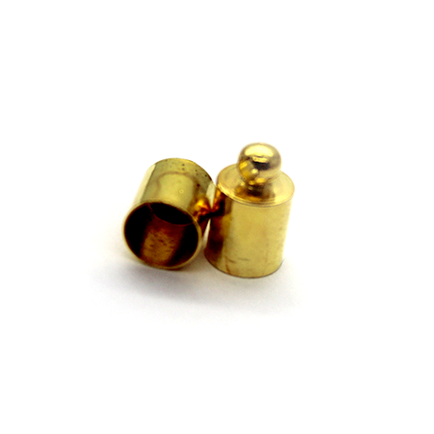 Terminator, Cord Ends, Gold, Alloy, 10mm x 6mm x 6mm, Sold Per pkg of 10