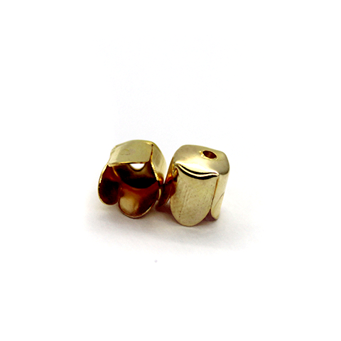 Terminator, Cord Ends, Gold, Alloy, 8mm x 6mm , Sold Per pkg of 20