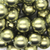 Shell Pearls, Lime Green, 10mm x 1mm (hole), 40pcs per strand