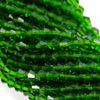 Chinese Glass Crystal, Bicone, Green, 2mm, 190 pcs per strand