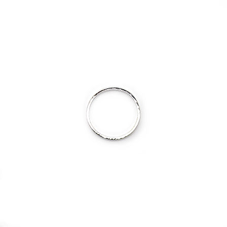 Connector, Plain Circle, Alloy, Silver, 20mm x 20mm, Sold Per pkg of 10
