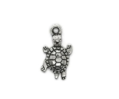 Charms, Turtle, Silver, Alloy, 22mm X 14mm X 4mm, Sold Per pkg of 6