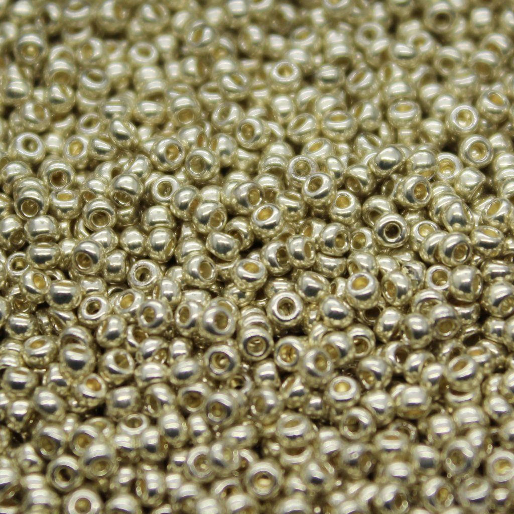Czech Seed Beads - Czech 11/0 - Silver Metallic