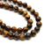 Tiger Eye, Semi-Precious Stone, 6mm, 65 pcs per strand