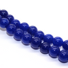 Royal Blue Jade, Semi-Precious Stone, 8mm, 46 pcs per strand