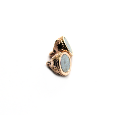 Clasp, Egg Shaped Magnetic Clasp, Alloy, Rose Gold, 15mm x 8mm x 8mm, Sold Per pkg of 1