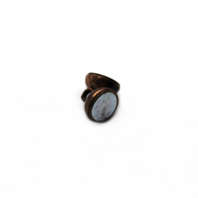 Clasp, Donut Magnetic Clasp, Copper, Alloy, 12mm x 7mm,  Sold Per pkg of 1