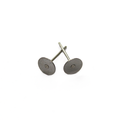 Earrings, Silver, Stainless Steel, Flat Stud Earring Stud, 11.5mm x 4mm sold per pkg of 35 pairs