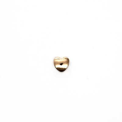 Spacers, Heart, Alloy, Rose Gold,  5.5mm X 6mm,  Sold Per pkg of 10