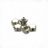 Spacers, Star, Alloy, Silver, 9mm X 9mm X 2mm (hole), Sold Per pkg of 8