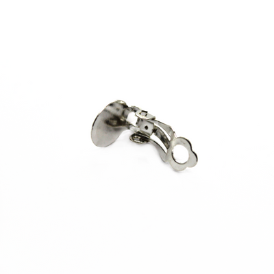 Earrings, Bright Silver, Alloy, Plain Clip-Ons, 10mm x 18mm, sold per pkg of 4 pairs