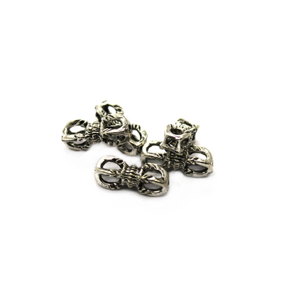 Spacers, Long Detailed Link, Antique Silver, 15.5mm X 5mm, Sold Per pkg of 8