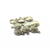 Charms, Disk, Silver, Alloy, 11mm X 8.5mm X 2mm, Sold Per pkg of 10