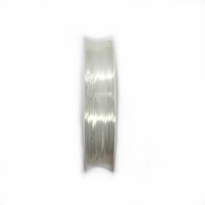 Crystal Tec Elastic Bead Cord, Transparent, 0.8mm, ~ 8 yards