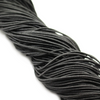 Elastic Nylon Beading Cord, China, Black, 1.5mm, ~ 80 yards