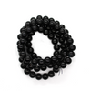 Glass Pearls, Black, 8mm - 1.5mm (hole), 112 pcs per strand