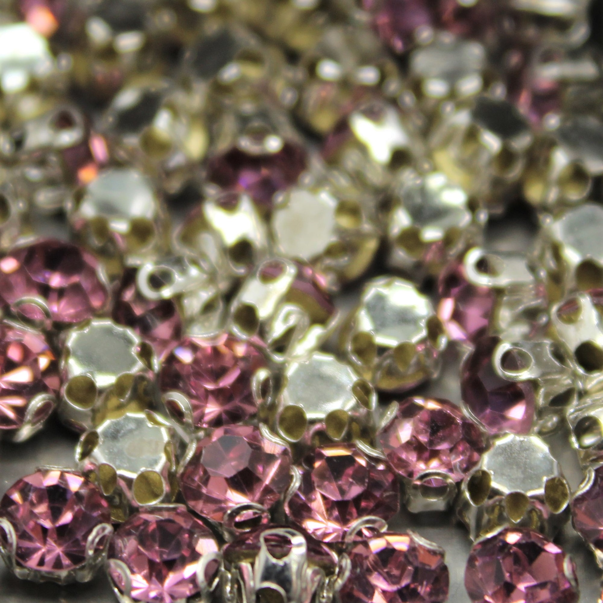Chaton Montees, SS-14, Alloy, Light Purple, 4mm x 4mm, Sold per pkg of 60