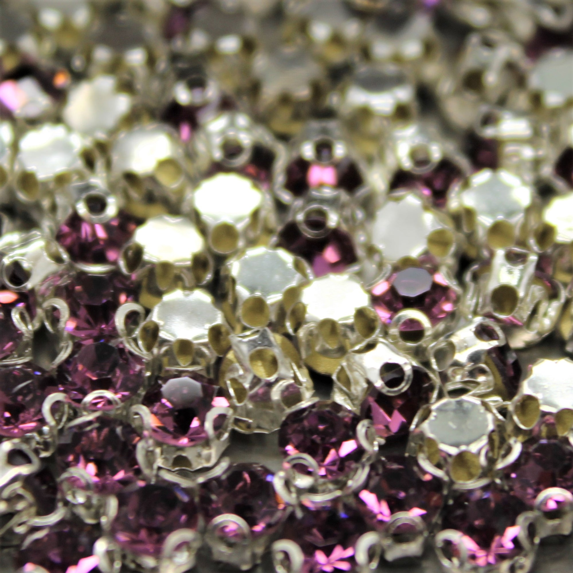 Chaton Montees, SS-14, Alloy, Purple, 4mm x 4mm, Sold per pkg of 60