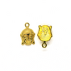 Pendants, Head of Buddha, Gold, Alloy, 22mm X 15mm X 4mm, Sold Per pkg of 6