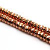 Hematite Rose Gold Faceted Rondelle, Semi-Precious Stone, 6mm X 2.5mm, 140 pcs per strand