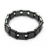 Hematite Stretchy Small Rectangle and Ball Bracelet, 16mm X 11mm, Semi-Precious Stone