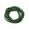 Glass Pearls, Pine Green, 4mm  - 1mm (hole), 210 pcs per strand