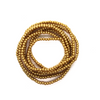 Glass Pearls, Gold, 4mm  - 1mm (hole), 210 pcs per strand