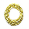 Glass Pearls, Light Yellow, 6mm - 1mm (hole), 140 pcs per strand