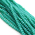 Chinese Glass Crystal, Rondelle, Seafoam Green Opaque, 2mm X 2.5mm, 190 pcs per strand
